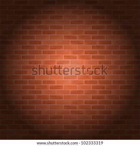 Brick wall, vector eps10 illustration - stock vector
