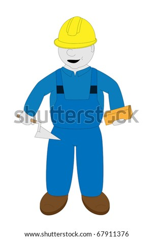 Bricklayer - stock vector