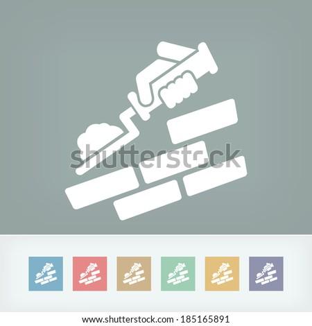 Bricklayer icon - stock vector