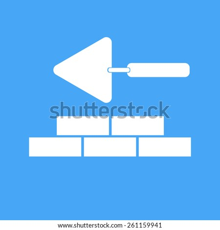 Bricklaying and trowel. Vector illustration.  - stock vector