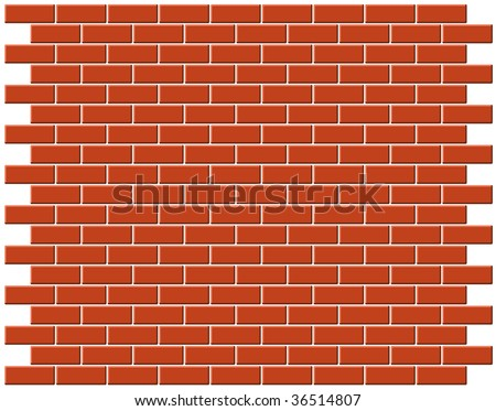 Brickwall vector background - stock vector