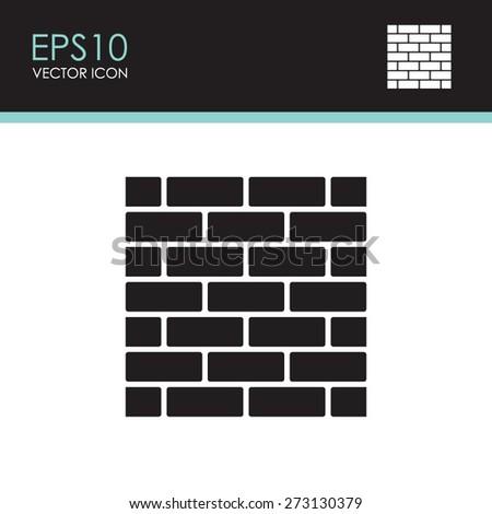 Brickwork vector icon. - stock vector