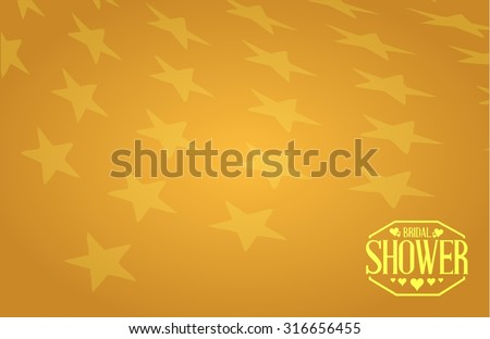 bridal shower gold background star sign illustration design graphic background - stock vector