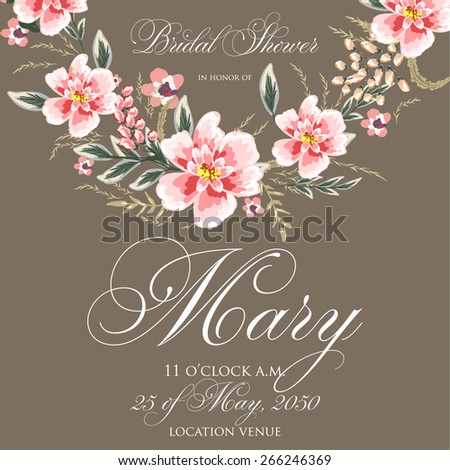 Bridal Shower Invitation - stock vector
