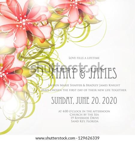 Bridal Shower invitation card - stock vector