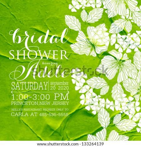 Bridal Shower invitation template - stock vector