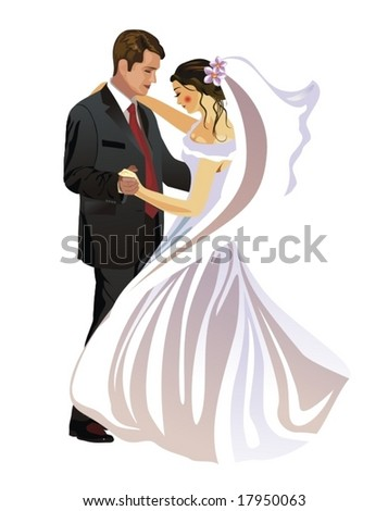 Bride and Groom - Vector