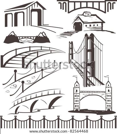 Bridge Collection - stock vector