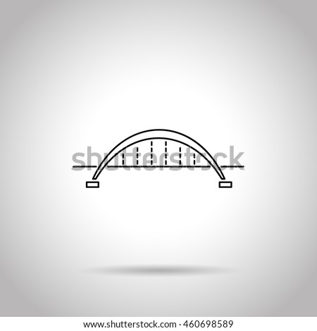 bridge flat line icon