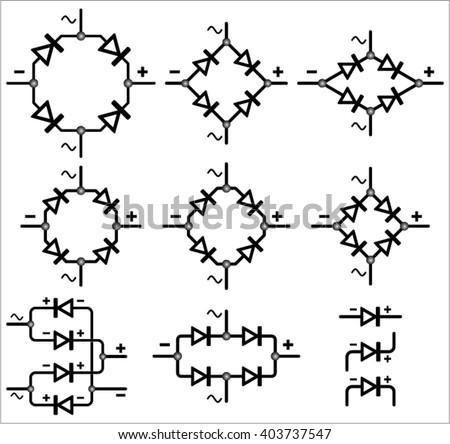 Bridge Rectifier Symbol Stock Vector Royalty Free 403737547