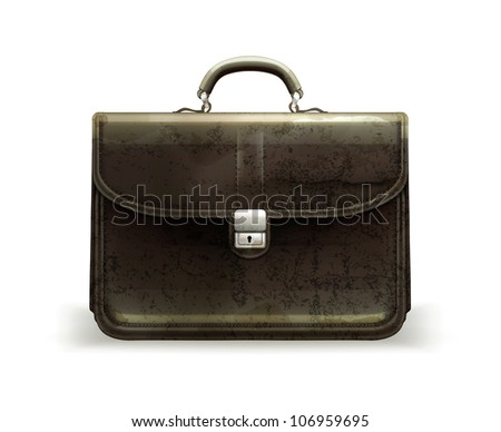 Brief case, old-style vector isolated
