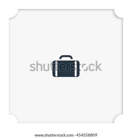 Briefcase flat icon.