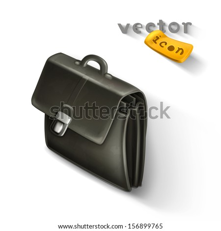 Briefcase icon - stock vector