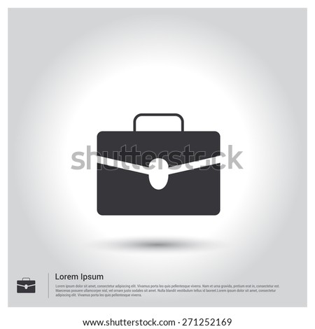 Briefcase icon, pictogram icon on gray background. Vector illustration for web site, mobile application. Simple flat metro design style. Outline Icon. Flat design style - stock vector