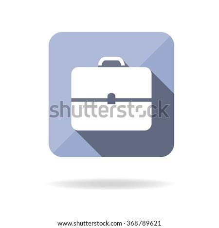 Briefcase icon, portfolio, flat design. Vector illustration - stock vector