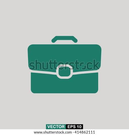 Briefcase icon vector, briefcase icon eps10, briefcase icon illustration, briefcase icon picture, briefcase icon flat design, briefcase icon, briefcase web icon, briefcase icon art - stock vector