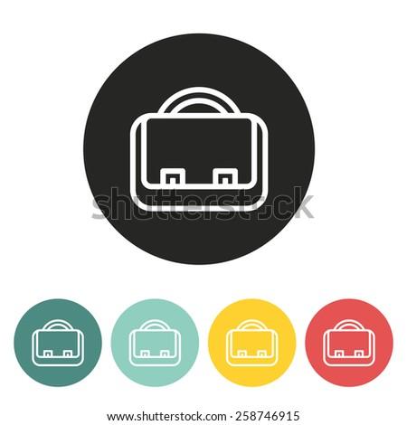briefcase icon.vector illustration. - stock vector