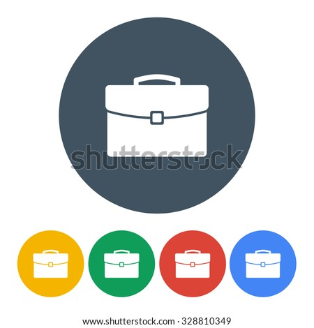 briefcase icons set colorful on the white background. stock vector illustration eps10 - stock vector