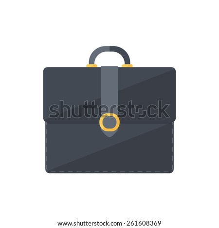 Briefcase portfolio symbol. Isolated icon pictogram. Eps 10 vector illustration. - stock vector