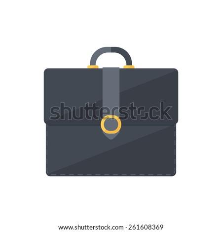 Briefcase portfolio symbol. Isolated icon pictogram. Eps 10 vector illustration. - stock vector