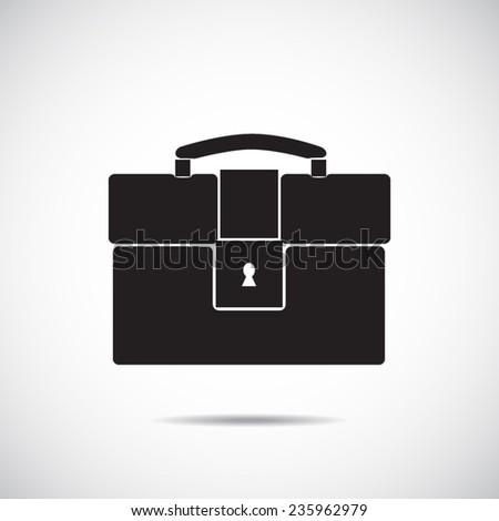 Briefcase vector icon - stock vector
