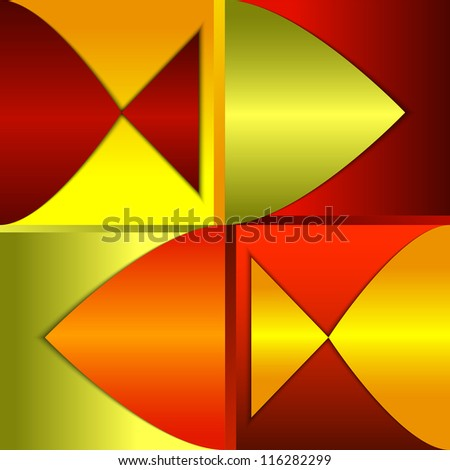 Bright abstract background, composition with fish silhouettes - stock vector