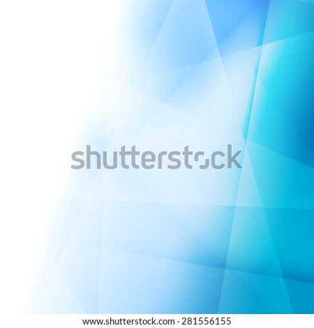 Bright abstract blue elegant background. Vector template - stock vector