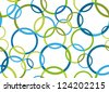 Bright abstract circle composition - stock vector