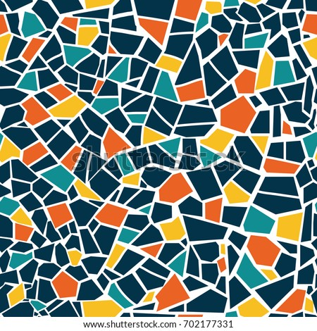 Bright Abstract Mosaic Seamless Pattern Vector Stock