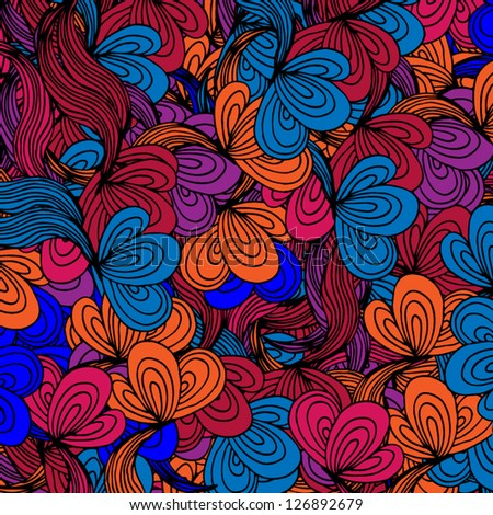 Bright abstract pattern.Can be used for wallpaper, pattern fills, web page, surface textures. Endless skin for gadgets desktop. Modern psychedelic design - stock vector