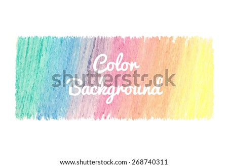 Bright abstract template with watercolor spot and splatter in vector - stock vector
