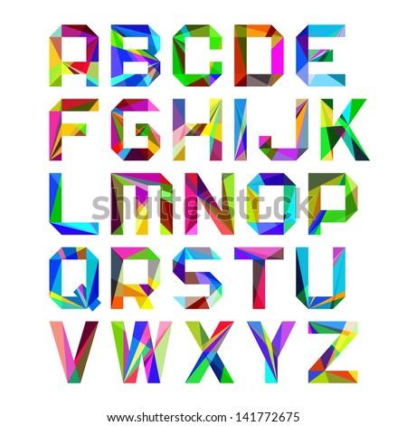 Bright alphabet letters. Vector. - stock vector