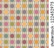 Bright and  motley seamless pattern with colorful squares - stock photo