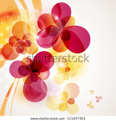 Bright background. Flower background with flowers. Card for mothers day. - stock vector