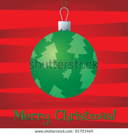 Bright bauble fun Christmas card in vector format. - stock vector