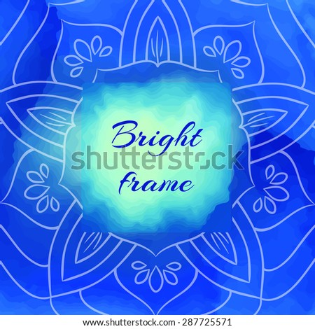 Bright Blue Square Frame Lotus Petals Stock Vector 287725571 ...