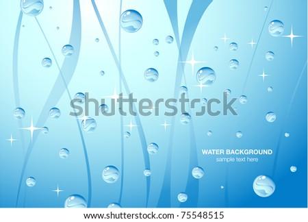 Bright blue water tank, vector - stock vector