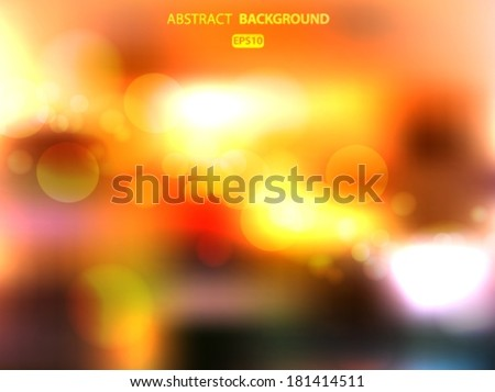 Bright blurred background. Sun flare. Vector EPS 10 illustration.
