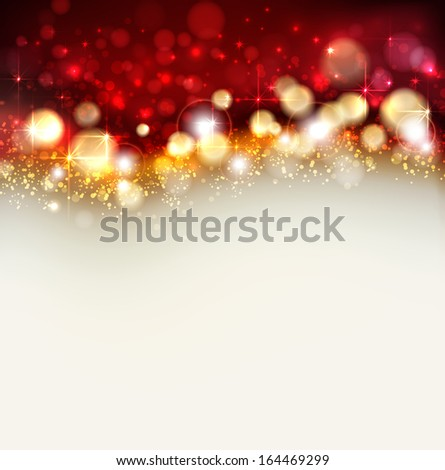 Bright Christmas background  - stock vector