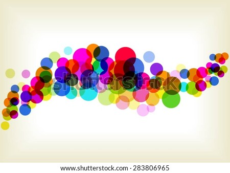 bright circles background - stock vector