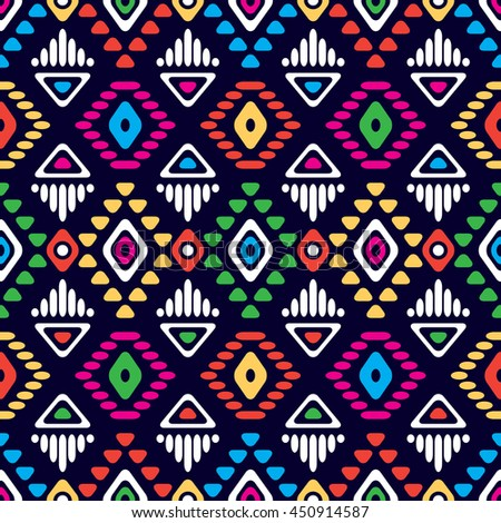 Bright Colored Seamless Pattern Boho Chic Stock Vector HD (Royalty ...