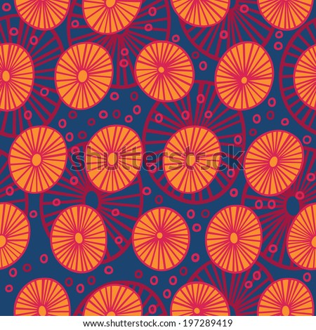Bright colorful abstract vector seamless pattern. A background with stylized ethnic design for web, print or textile. - stock vector