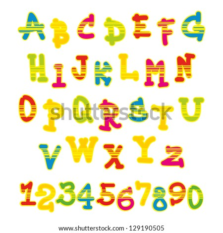 bright colorful alphabet
