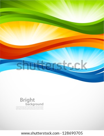 Bright colorful background - stock vector