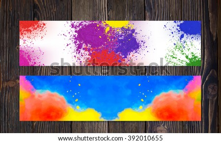 Bright colorful banners. Abstract rainbow colored banner design. - stock vector