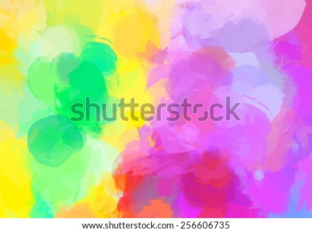 Bright colorful brush strokes background. Vector version - stock vector