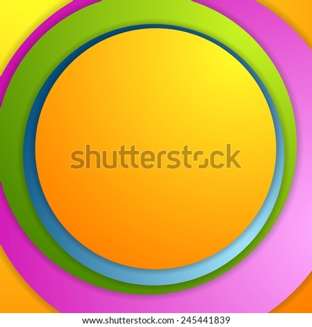 Bright colorful circles background. Vector illustration - stock vector