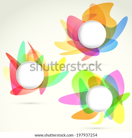 Bright Colorful Design Elements Templates Vector Stock Vector (2018 ...