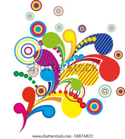 Bright colorful patten, vector illustraton - stock vector