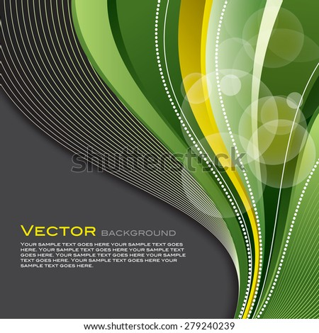Bright Colorful Vector Background with Green Design Elements. - stock vector